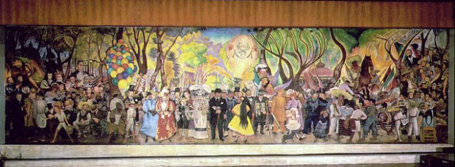 Dream of a Sunday Afternoon in Alameda Park, 1947-48. Museo Mural Diego Rivera, Mexico City